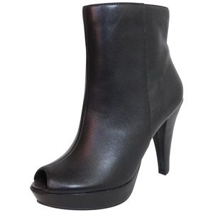 NEW Report Open Toe Platform Leather Boot